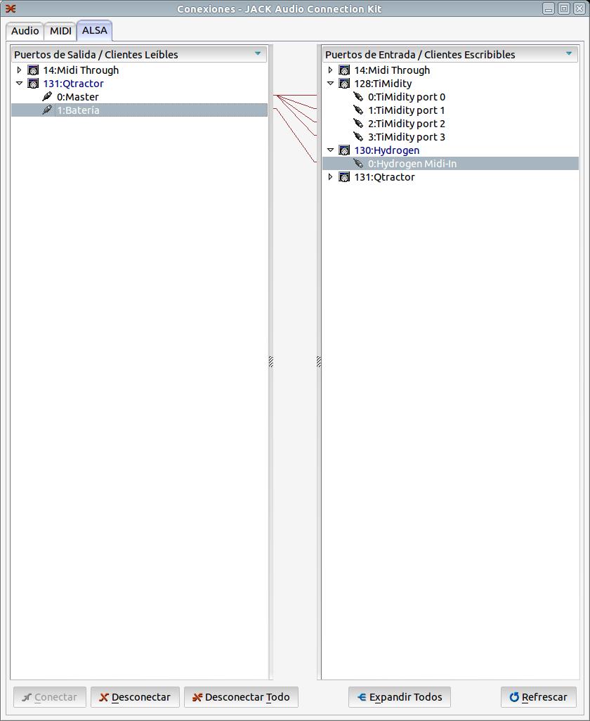 Producción Musical con Software Libre (V): Qtractor como Secuenciador MIDI yconexiones.