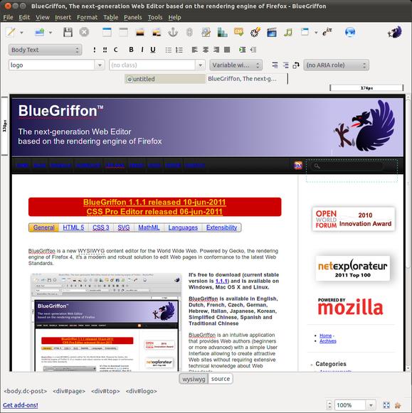 Mozilla BlueGriffon